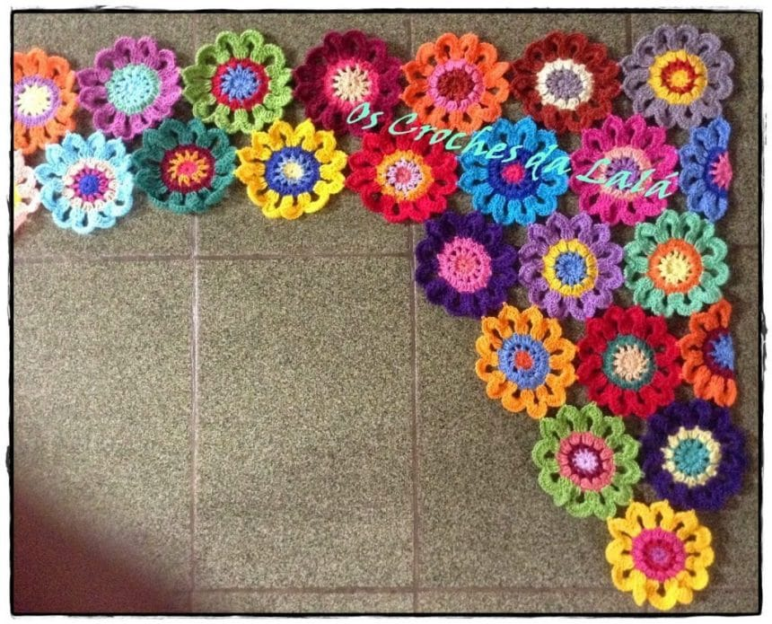 How To Make Crochet Flower Curtains Simple Craft Ideas