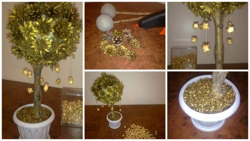 How to make golden tree with falling stars