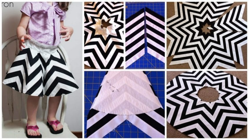 How to make black and white chevron skirt
