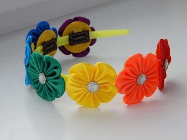 How to make rainbow hairband