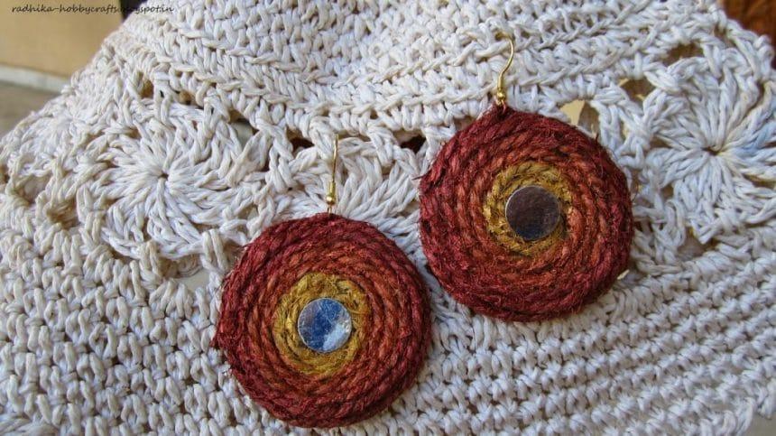 jute twine earrings