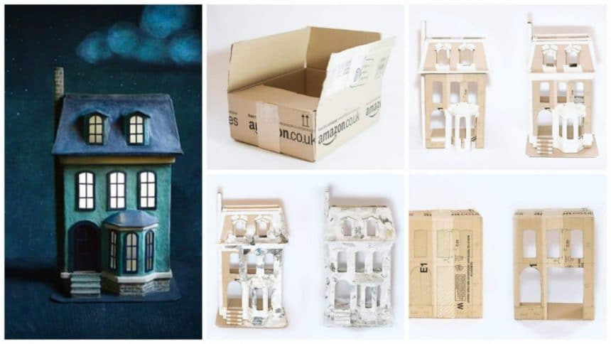 amazing dollhouse with a carton