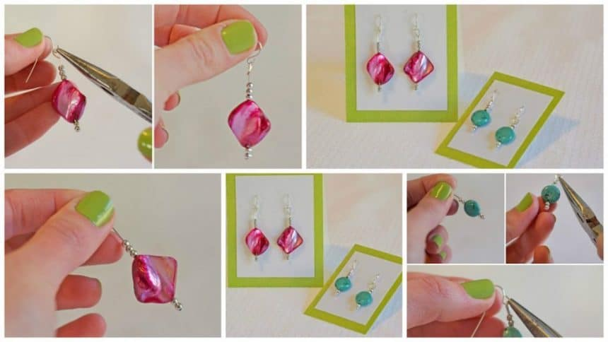 How to make simple earrings from beads
