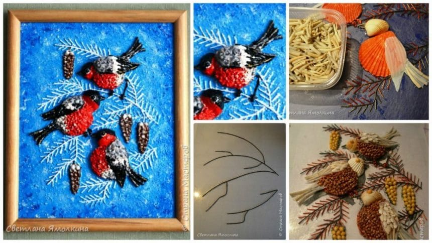 How to make bullfinches panel