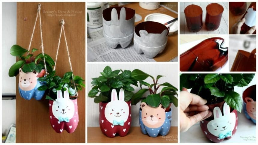 How to make plastic bottle pet pot