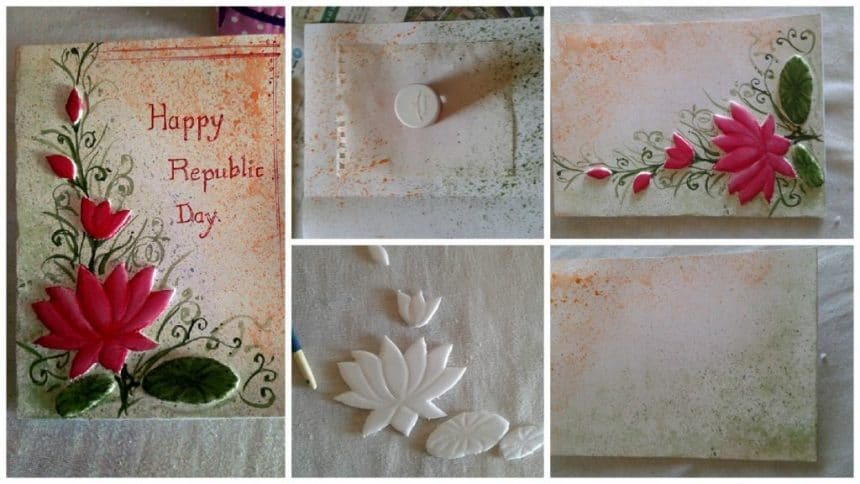 How to make greeting card decoration from thermocol