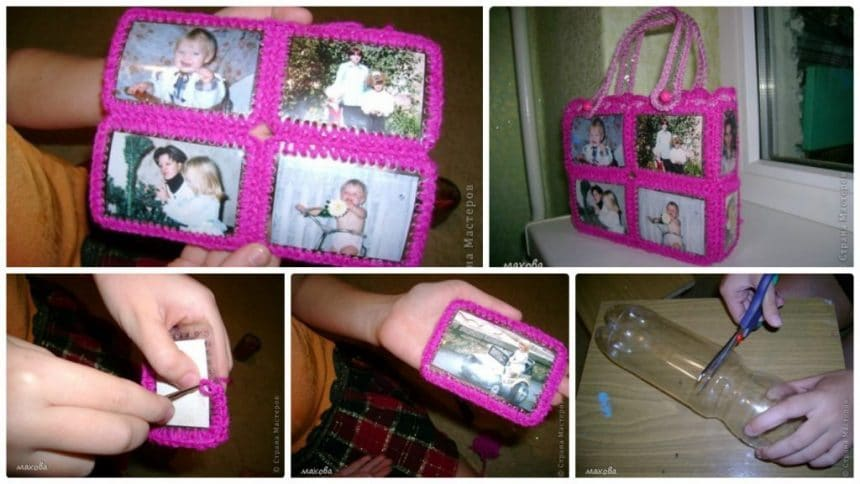 How to make photo album bag from plastic bottle