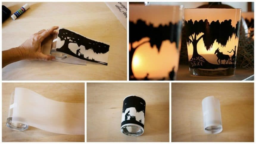 How to make candlestick from transparent paper