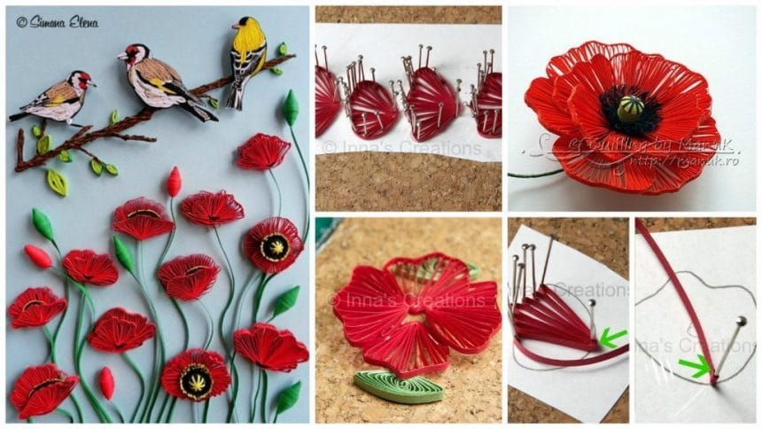 How to make quilled poppies – Simple Craft Ideas