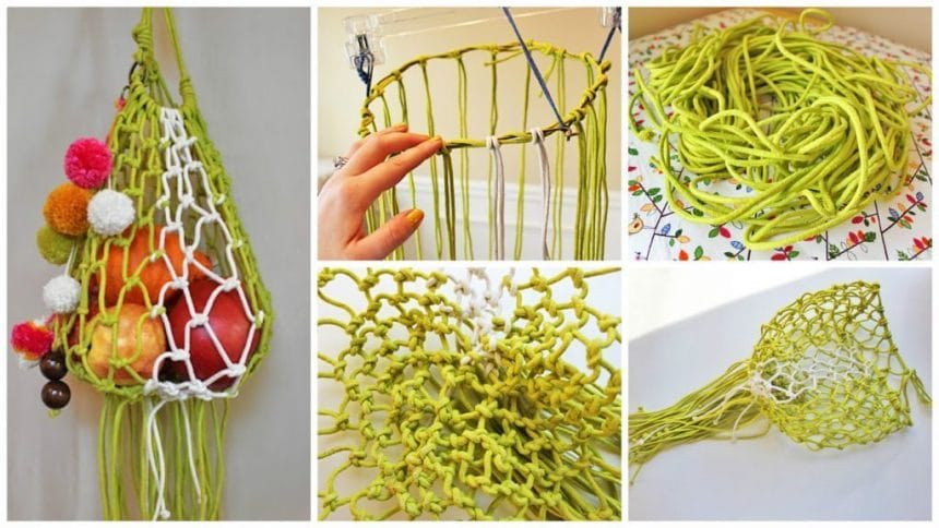 How to weave a beautiful and fashionable shopping bag