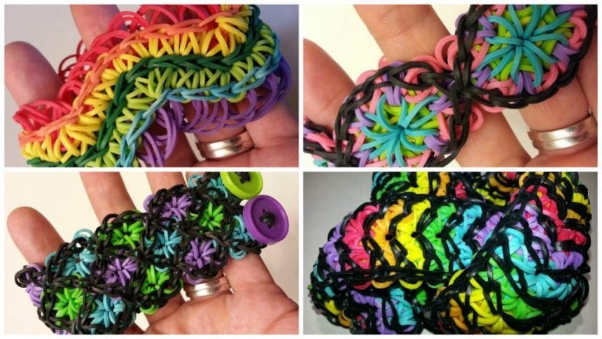 How to make kaleidoscope rainbow loom bracelet