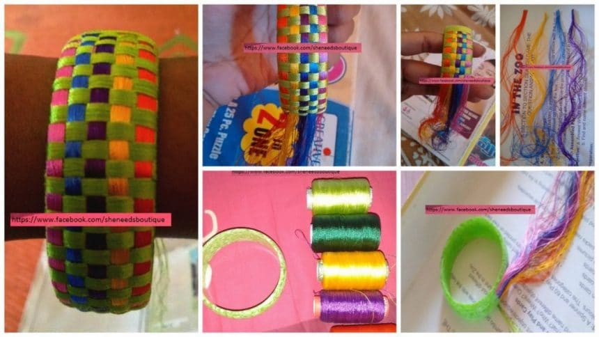 How to make fantastic rainbow bangle