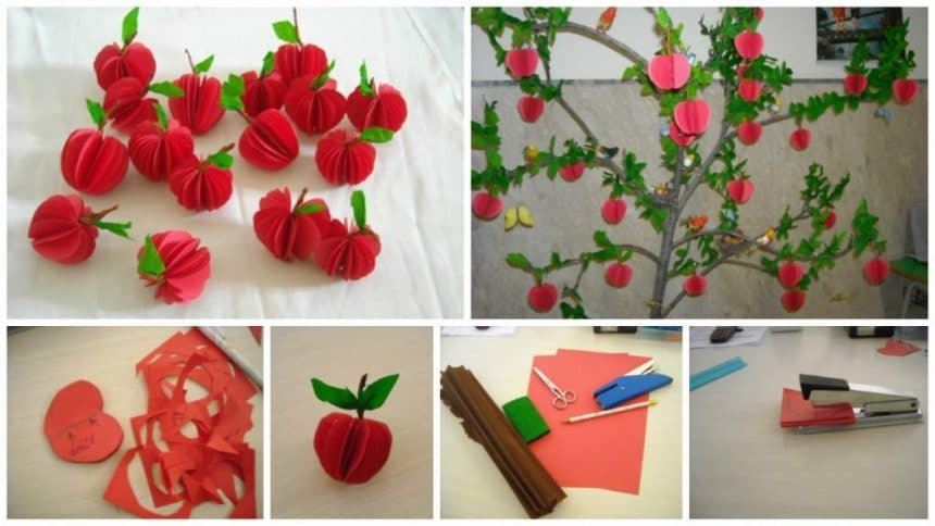 How to make apple tree for children's rooms