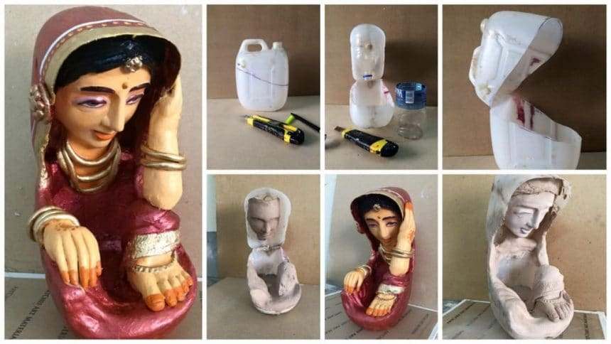 How to make village women from clay art