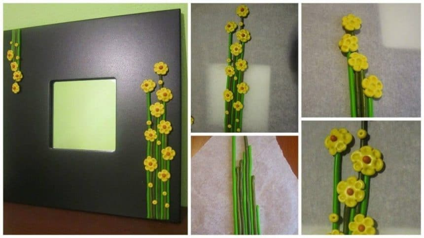 Mirror frame flower