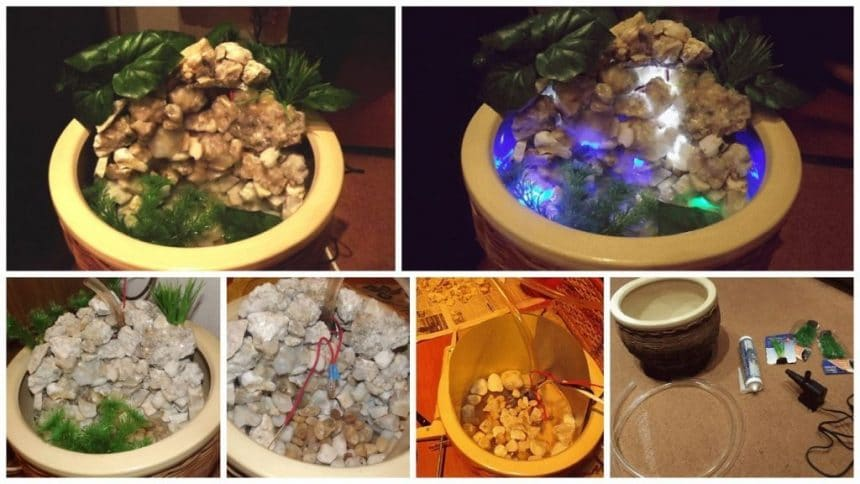How to make flower pot waterfall