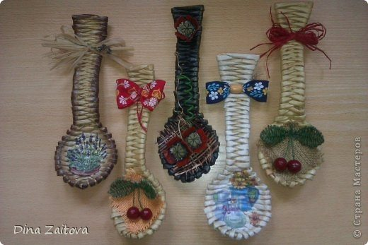 Weave Newspaper Decorative Spoons For Kitchen Interior Simple