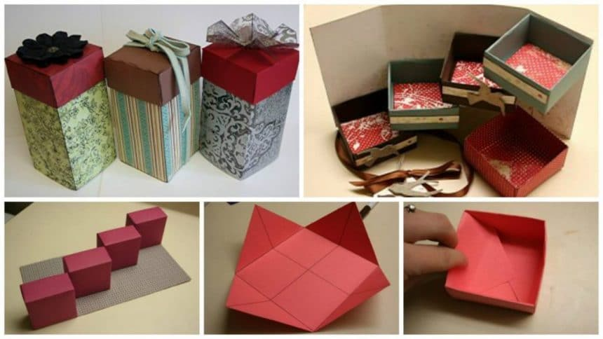A method of making a box with a secret