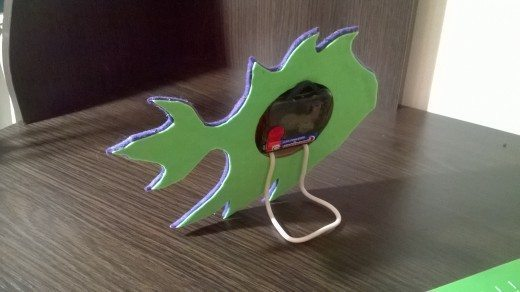 How to make felt - fish clock