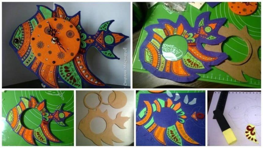 How to make felt – fish clock