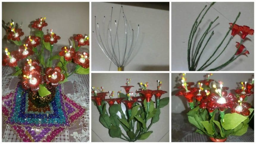 How to make head massager into flower bouquet