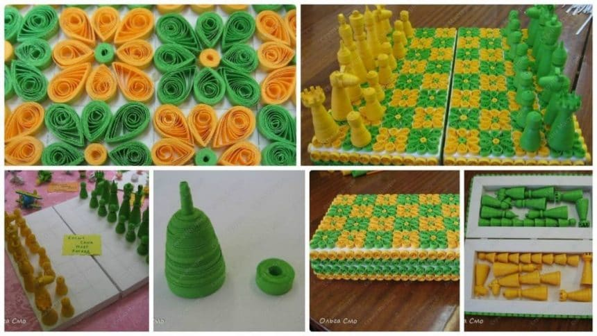 How to make Chess from quilling