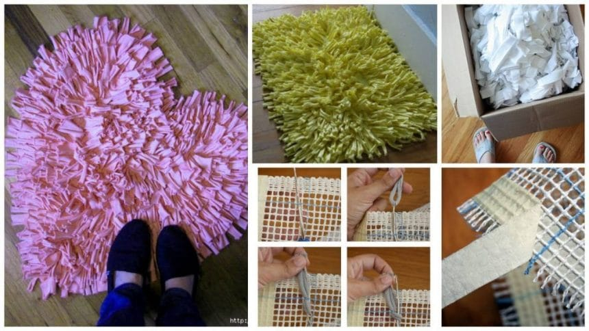 How to make rug from old shirts