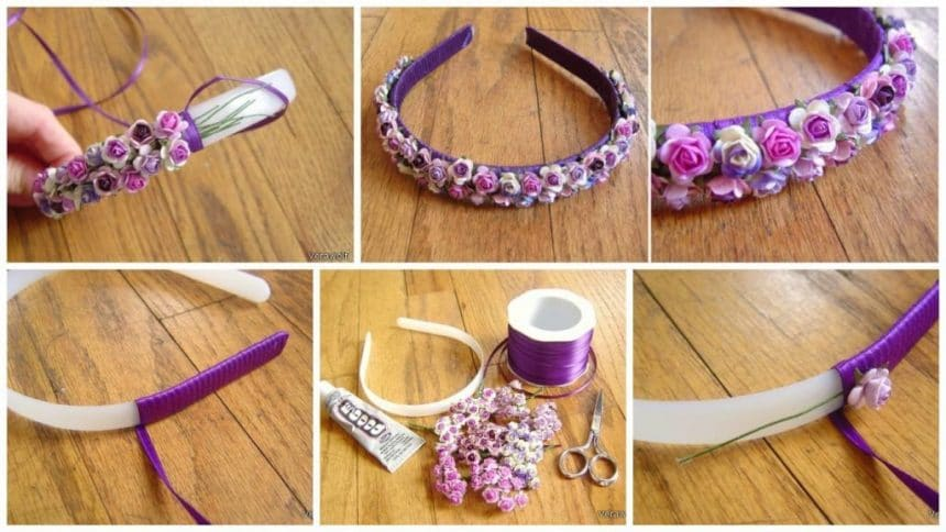 How to make flower hair bow