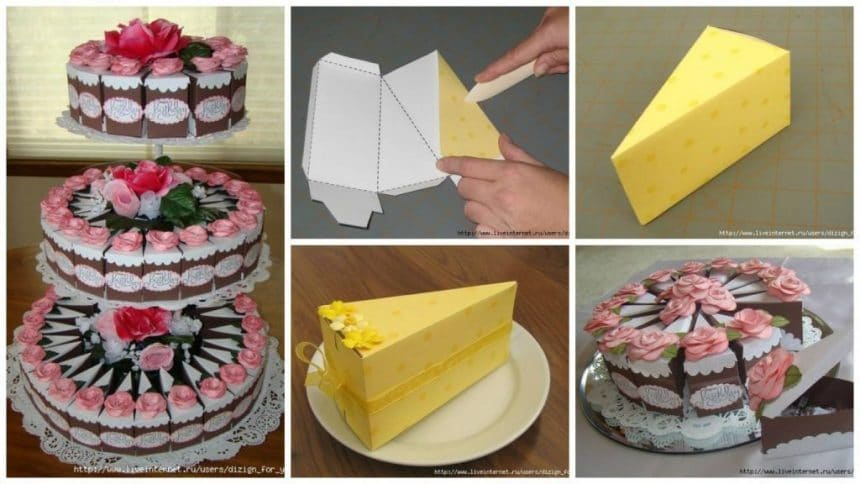 How to make paper cake for gift