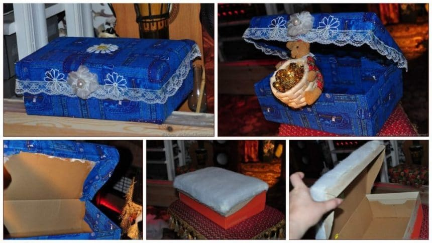 How to make a jewelry Box From Old jeans
