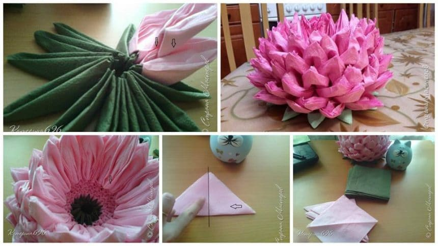 How to make origami lotus