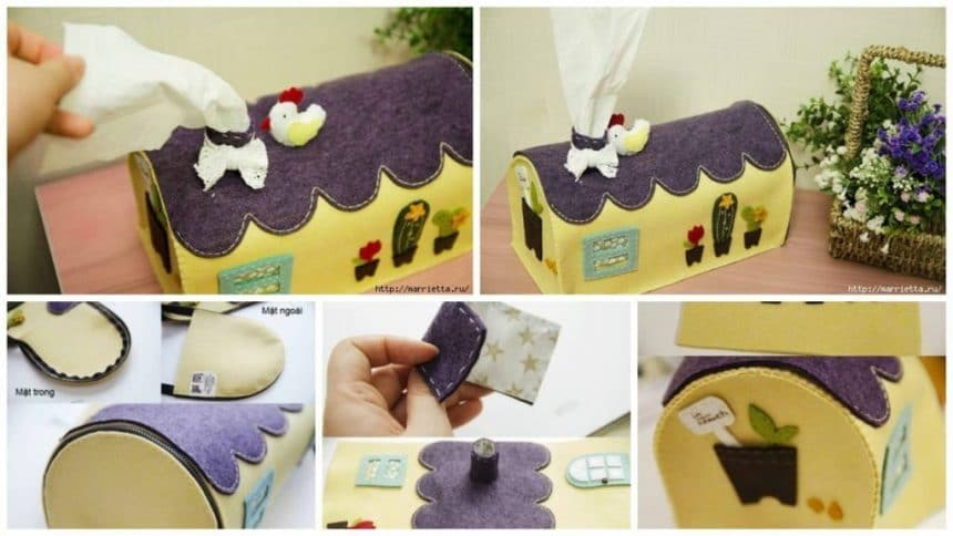 How to make  organizer for paper napkins