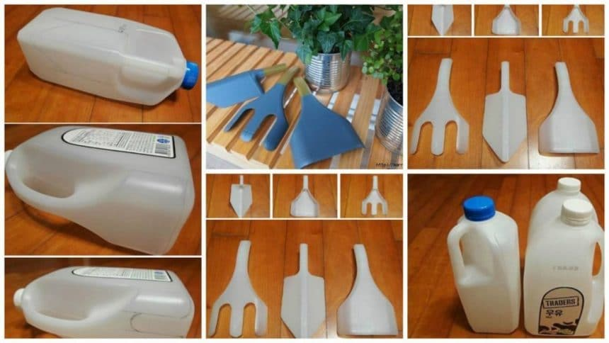 How to make garden tools from plastic bottles