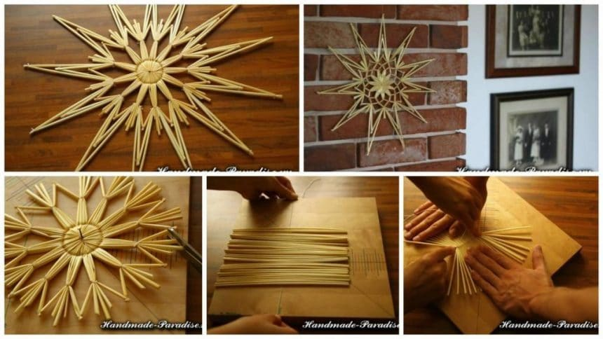 How to make star out of straw