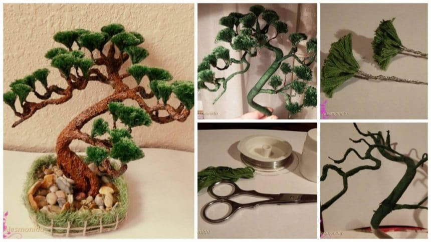 Making Bonsai with a burning candle - Simple Craft Ideas