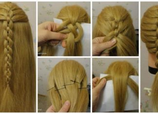 braided chain pigtail hairstyle