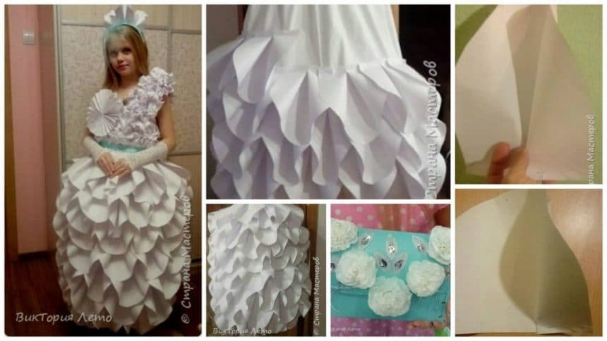 How to make paper frock for fancy dress competition