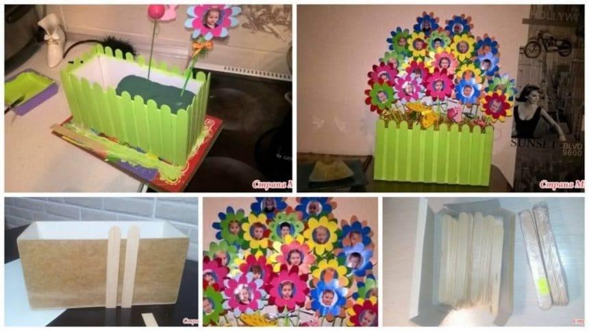 How to make unusual bouquet for kindergarten