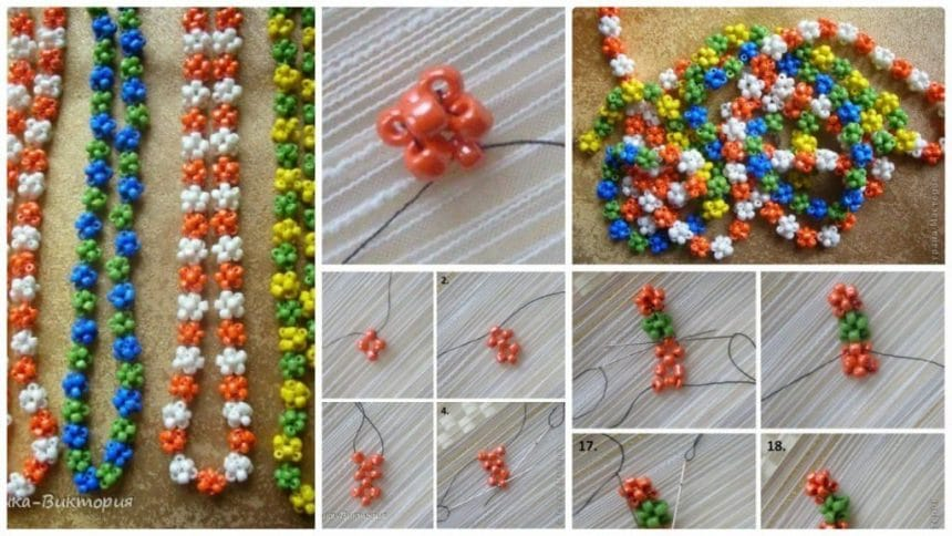 How to make bead necklaces