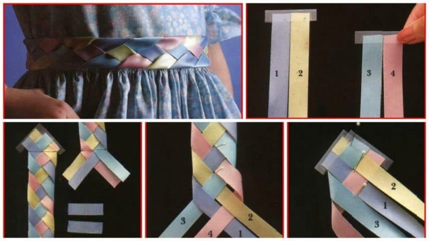 How to woven ribbon belt