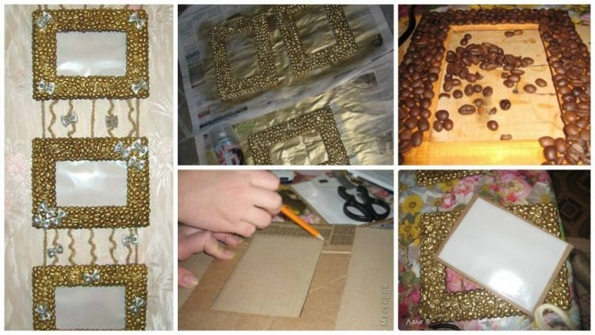 How to make cardboard photo frames