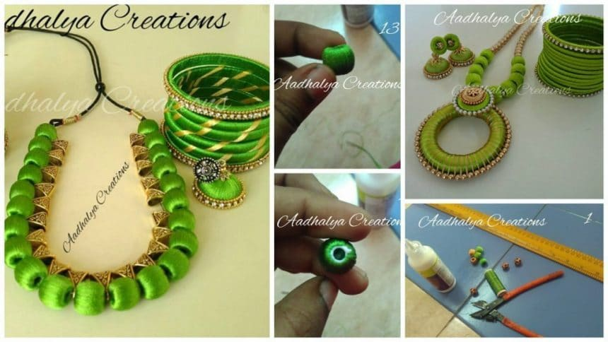 How to make thread beaded jewelry