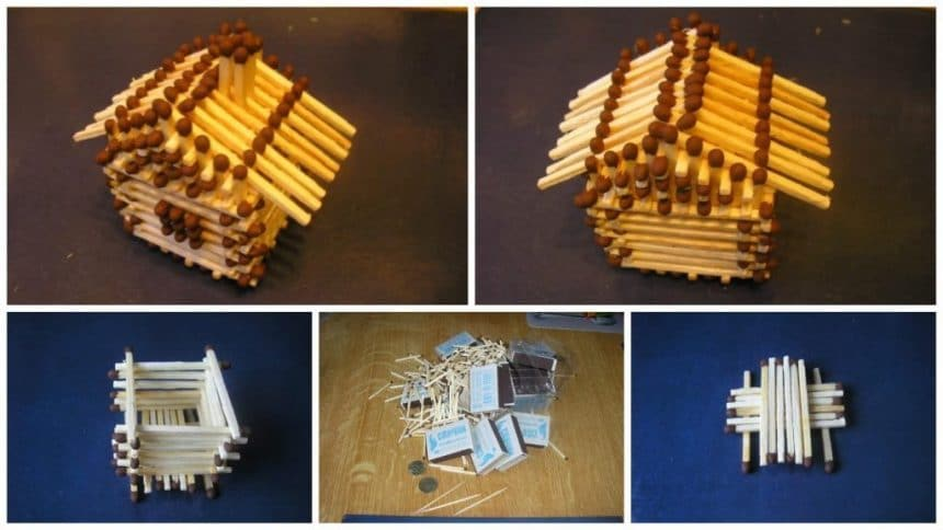 How to make house from matches