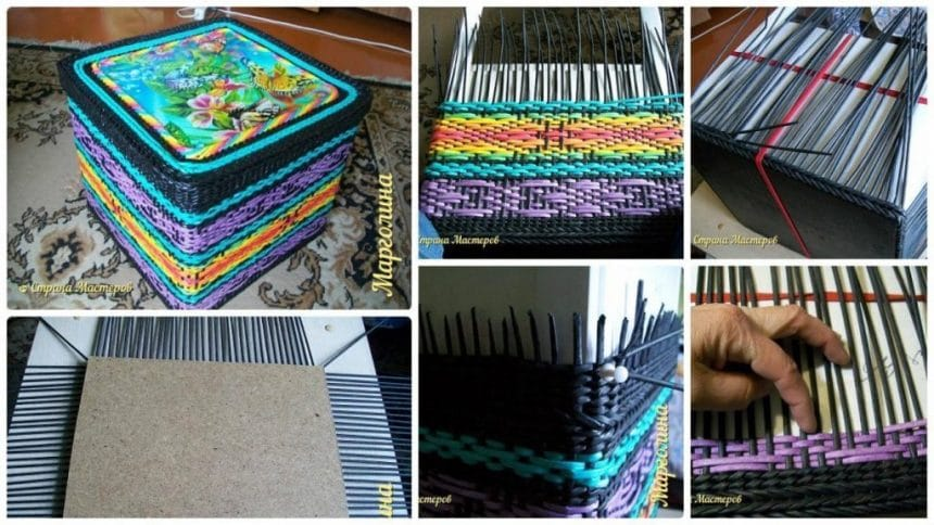 How to make weaving box