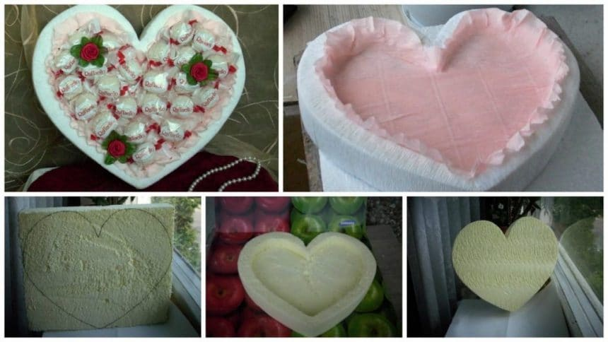 How to make heart candy box for gift