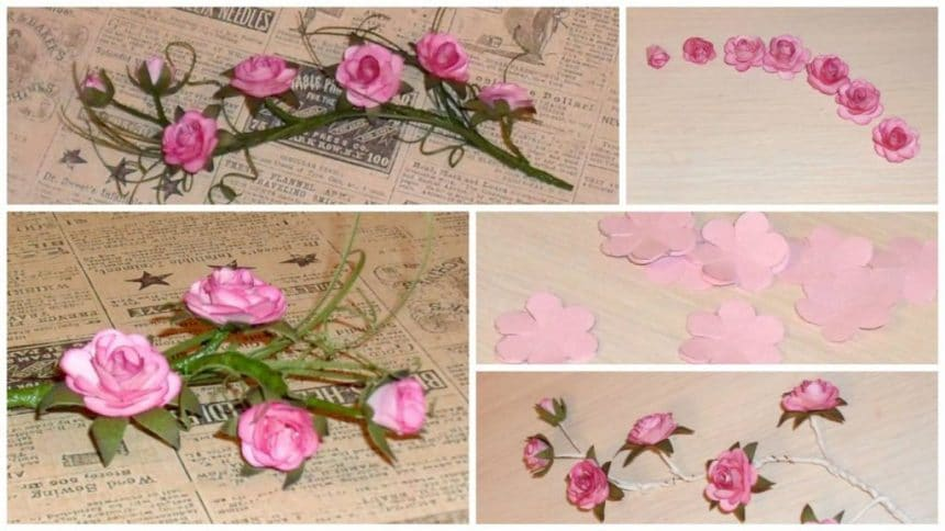 How to make sprig of wild roses