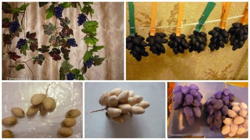 How to make grapes from pistha shell