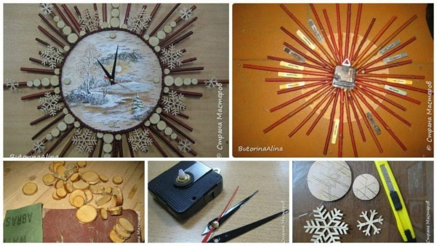 How to make wall clock from natural materials