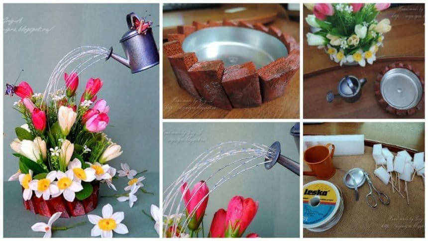 How to make floating cup flower basket