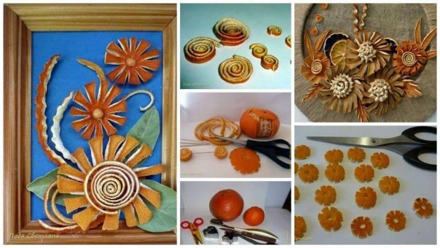 How to orange flower art